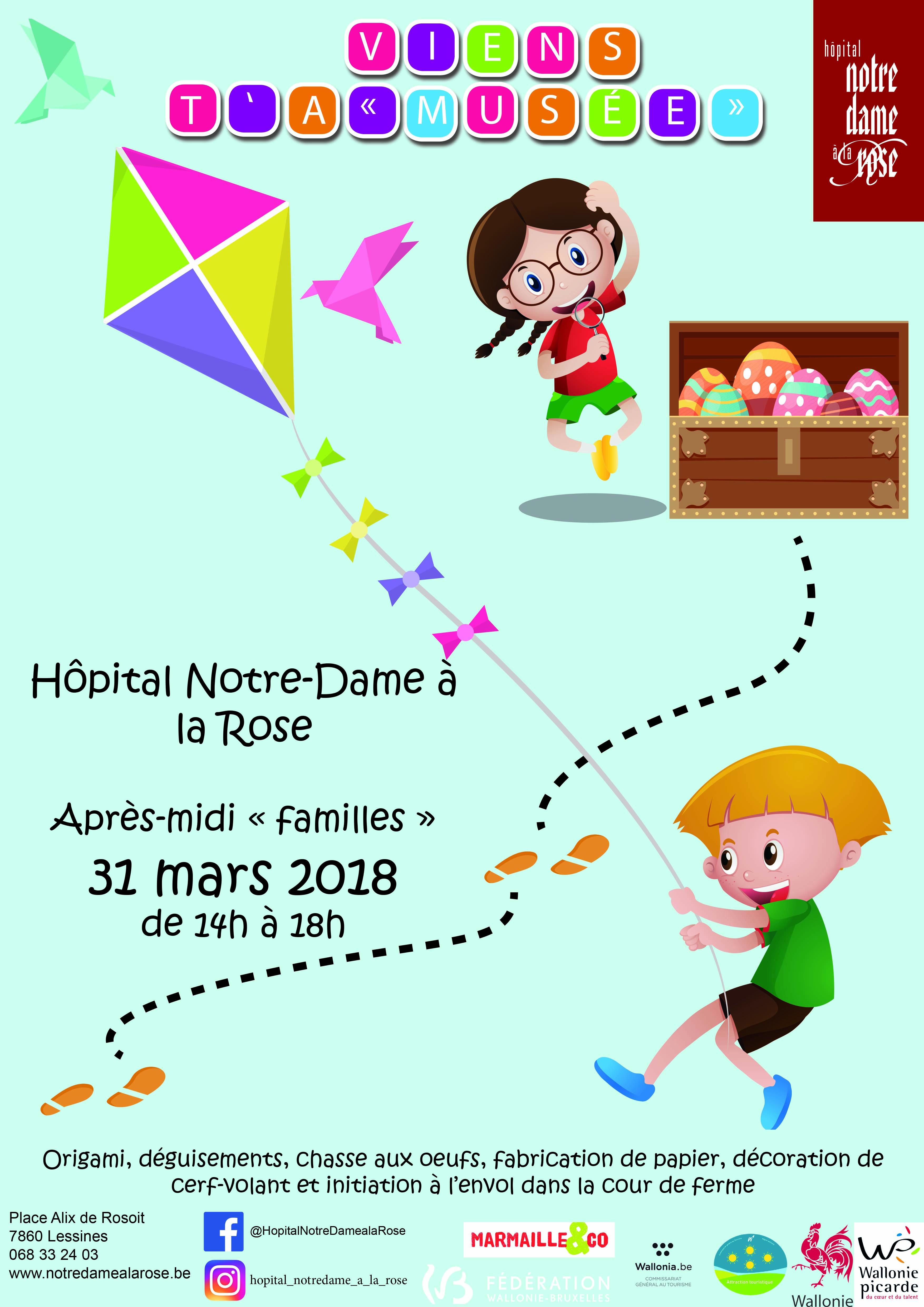 Après-midi famille Pâques le samedi 31 mars 2018